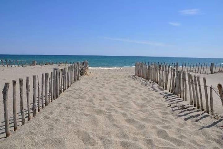 Appartement f2 Saint-cyprien plage face à la mer