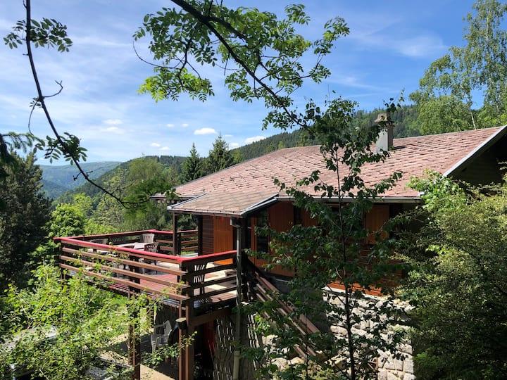Grand chalet de montagne, sauna, proche Colmar