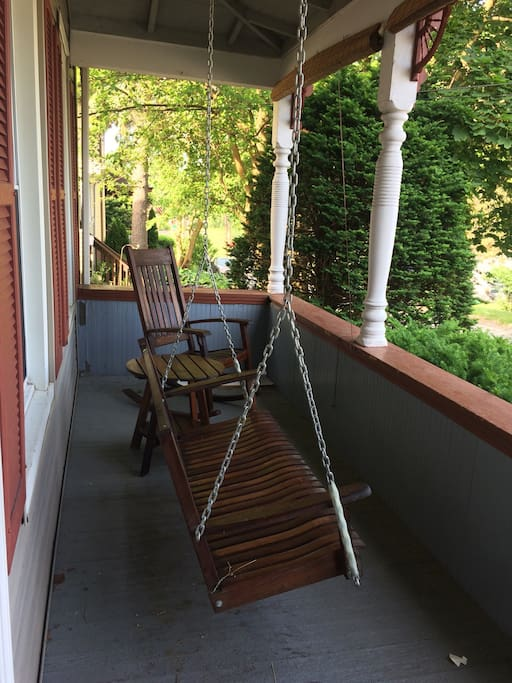 Rocking chair front porch, perfect for watching the sunset.