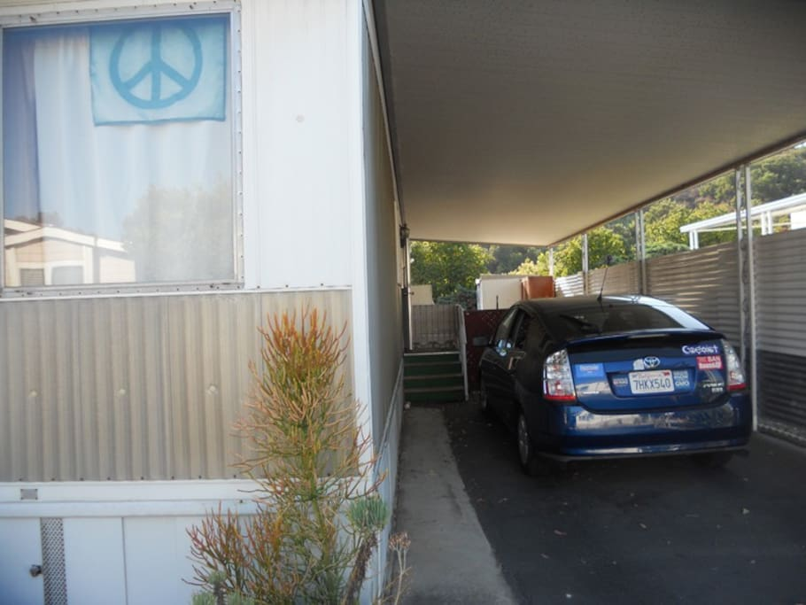 My carport, you can park here...