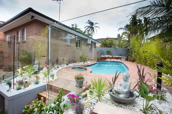 2 Bedroom Sunny Garden Flat with access to pool. - North Balgowlah - Casa