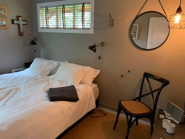 A bedroom for 2 adults