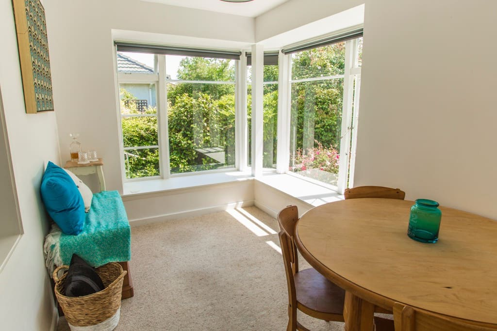Lovely sunroom to sit in and enjoy a coffee