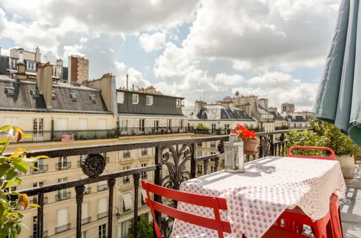 NICE VIEW IN THE MARAIS  top floor