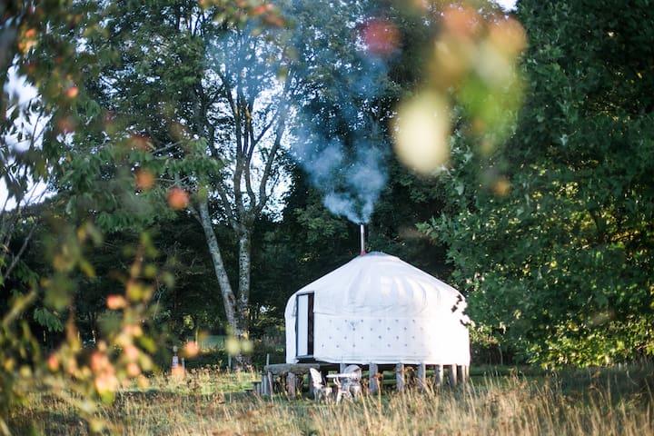 Lower Yurt at Botelet Farm