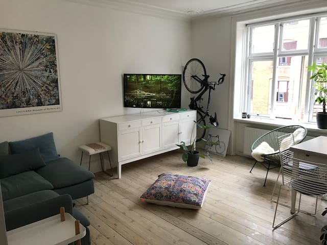 Lovely apartment in Nørrebro close to The Lakes