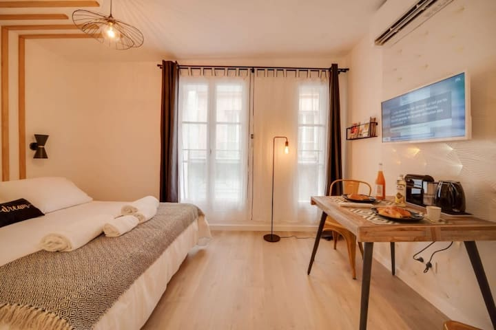 ELEGANT STUDIO IN PARIS FOR 2 PEOPLE -QUARTIER CANAL SAINT MARTIN (YANG)