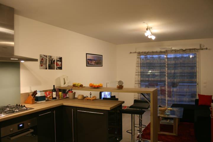 Agréable 45m² avec terrasse proche centres villes - Pyrénées-Atlantiques - Apartment