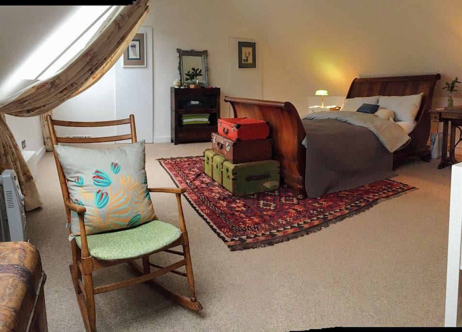"The master 'Alice Bedroom' occupies the whole footprint of the cottage, on the top floor with private sitting and library area; with views over the treetops to the fells... Review: ""One of the best Airbnb's I have ever stayed in."""