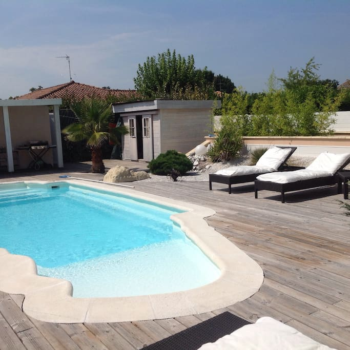 Maison proche oc an avec piscine h user zur miete in for Piscine saint vincent de tyrosse