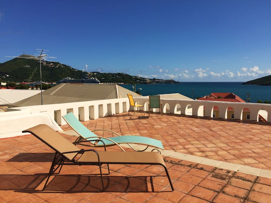 ...guests will have access to my private roof terrace looking out over the Caribbean Sea...