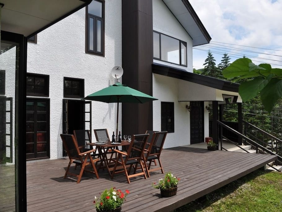 Relax on the sun filled deck big enough for all your friends and family to catch up.
