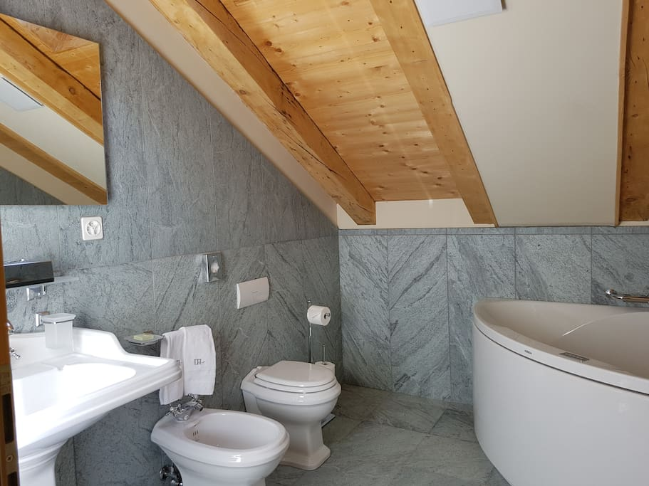 Marble bathrooms with all the amenities you may require