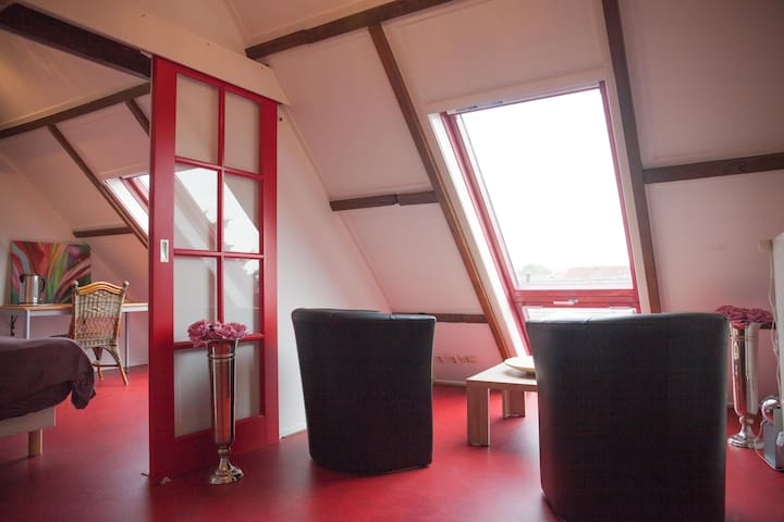 Jeanettes Place _ Attic Room 2 Kamer zolder (rood)