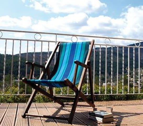 calme et verdure pour ce spacieux f3 - Lamalou-les-Bains - Apartment
