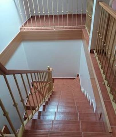 This is your own staircase to access the loft apartment.