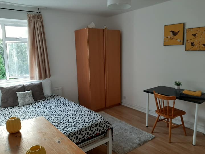 Cosy double bedroom in E14, Westferry DLR Hind gro