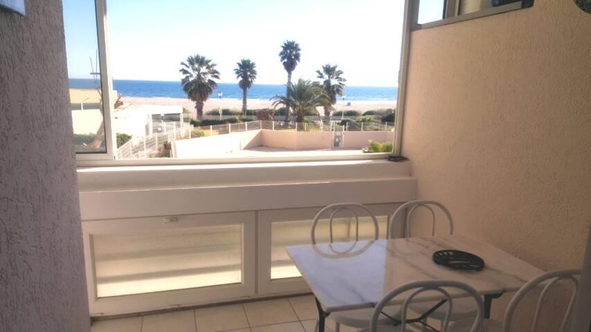 Appartement 30m² en front de mer, tout confort