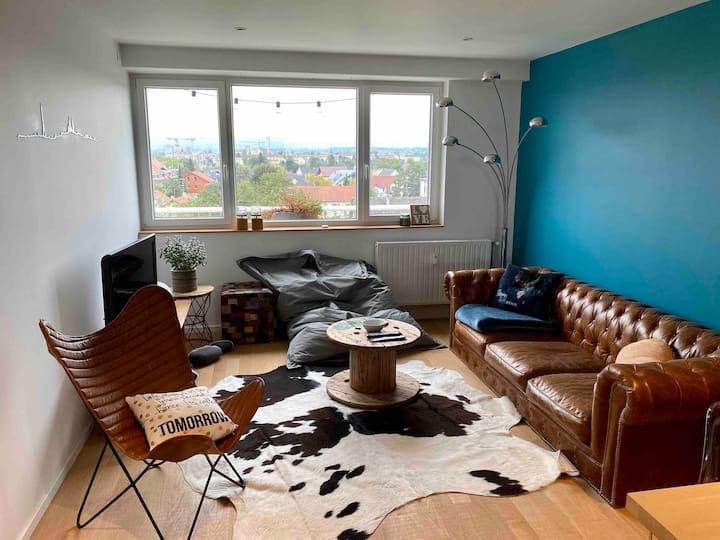 Grand appartement à 2min de Bâle, vue incroyable