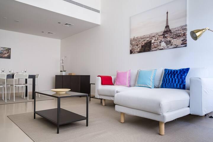 Contemporary apartment in Burj Al Nahda tower