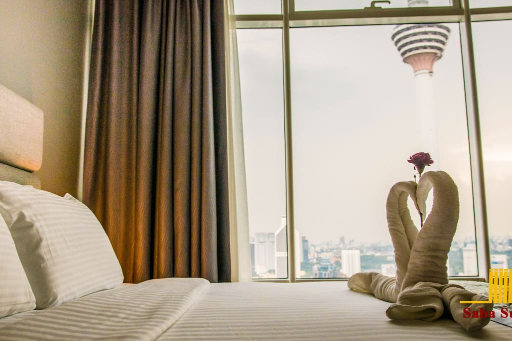 Bed with KL Tower View