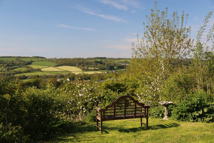 A scenic view from the decking