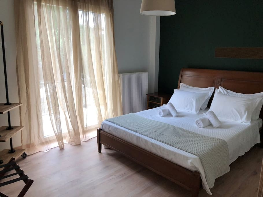 Green double bedroom consists of 13.5 sq.m.
