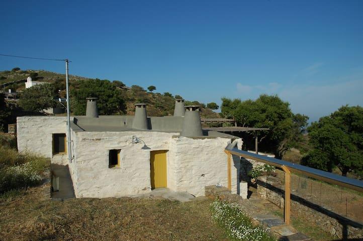 Family friendly traditional Cycladic Farmhouse