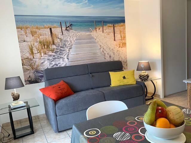 Appartement T2, au calme, bord de mer, 4 personnes