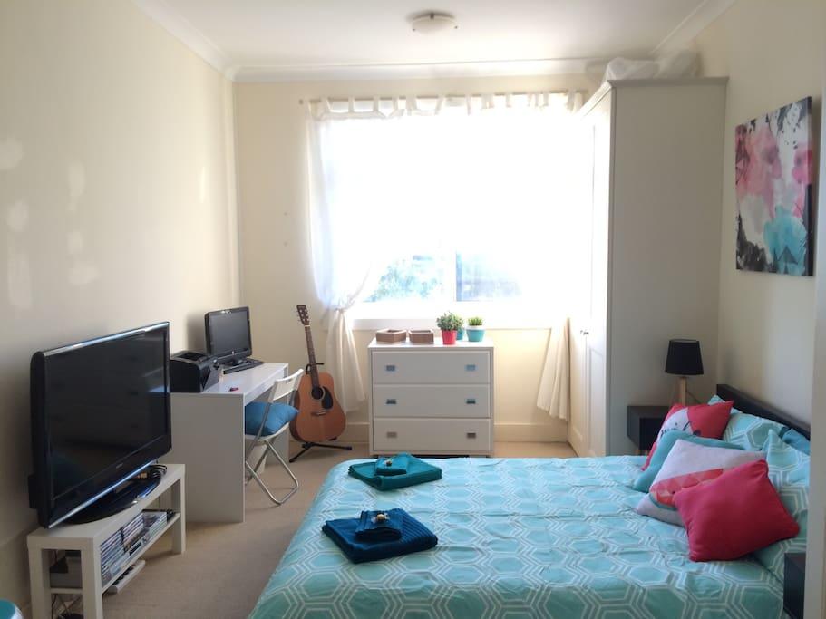 Sun-soaked room (Master bedroom)
