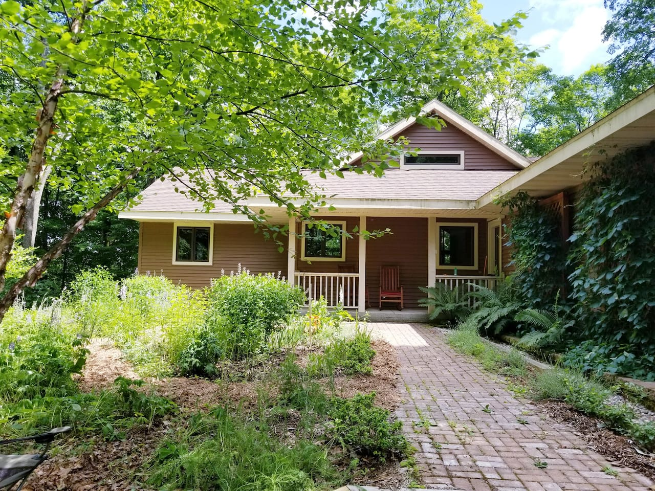 Lovely upscale cabin with all the amenities nestled in a stunning backwoods setting in northern Wisconsin.