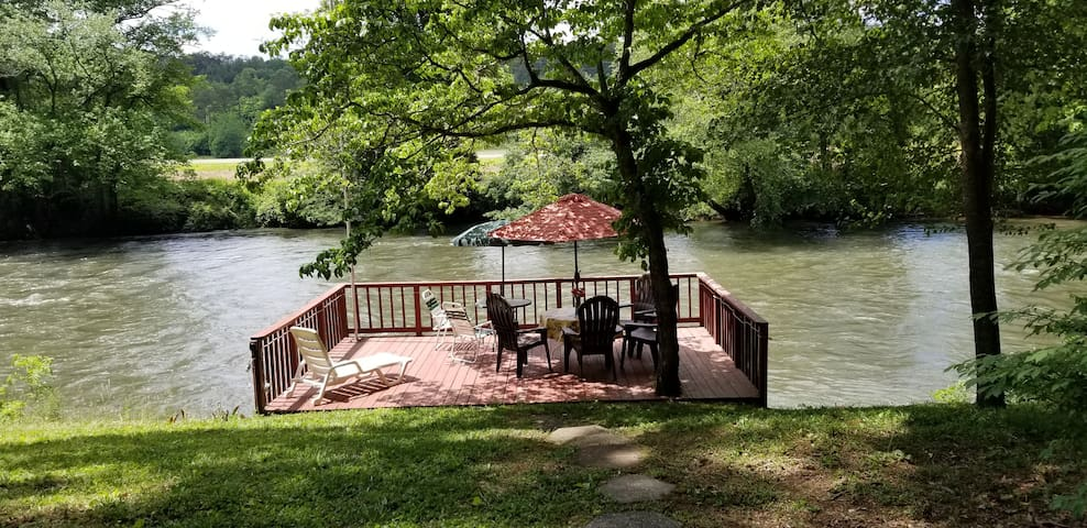 Slice of Heaven on the Hiwassee River w 2 units!