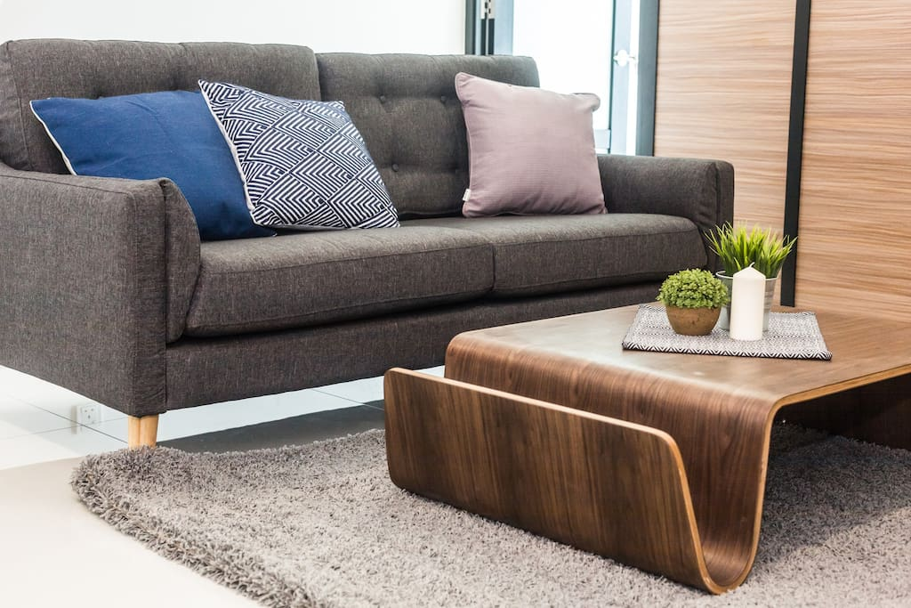 Comfortable furnishings in the living area
