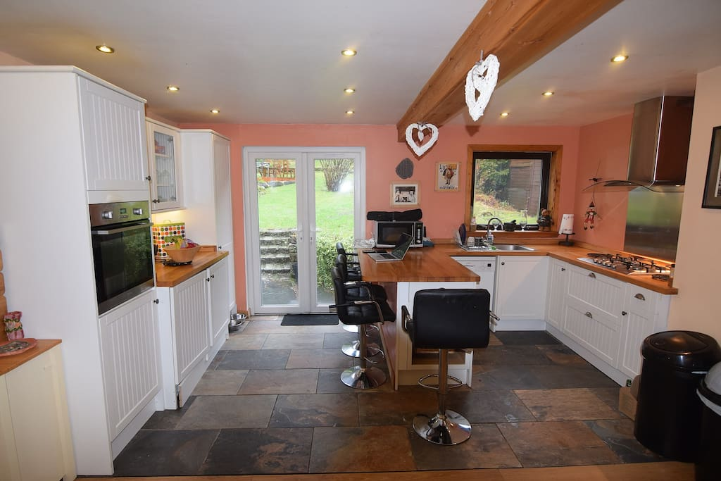 Large family dining kitchen