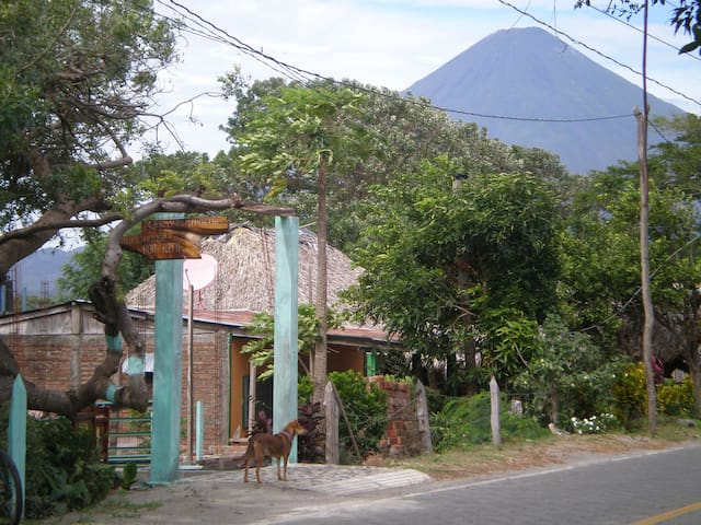 Volcano Concepcion behind Isania's Beach House in Santa Cruz !