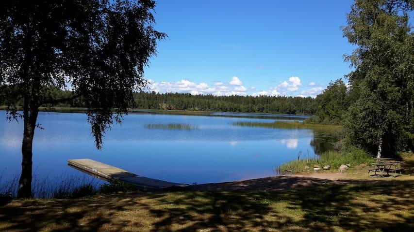 kleines Häuschen im schwedischen Wald, Smaland - 2