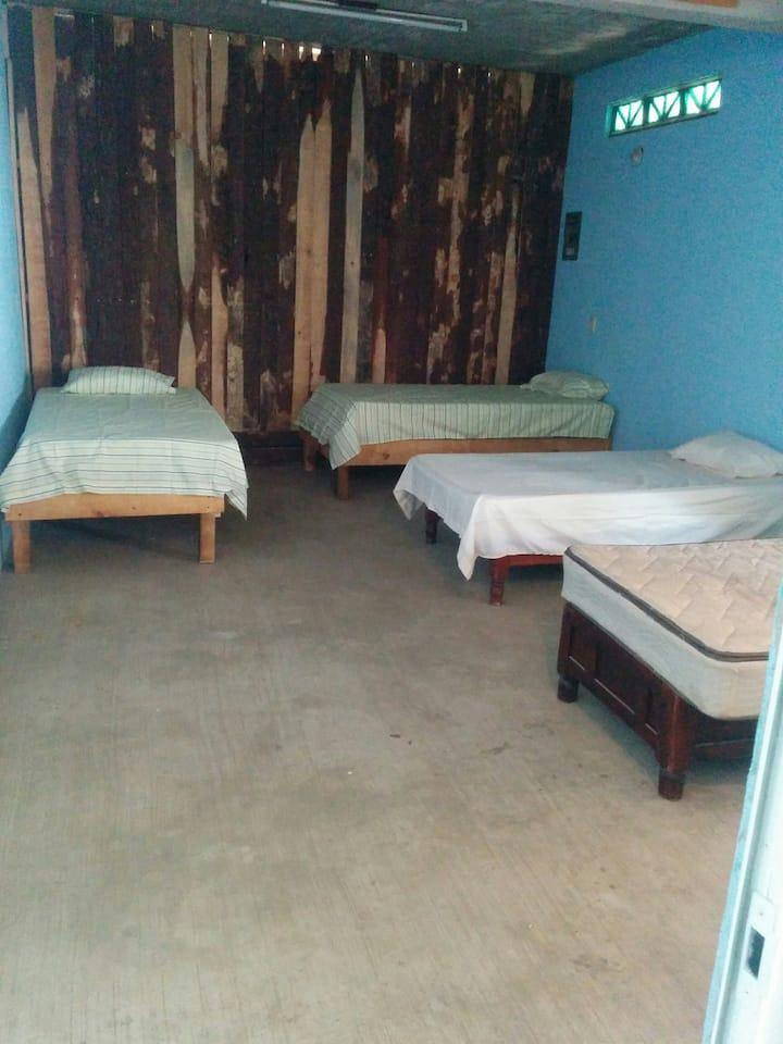 Ziphostal - cama 2 en dormitorio - zipolite playa