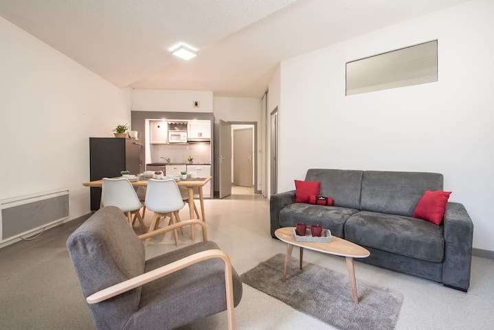 APPARTEMENT SPACIEUX  4 PERSONNES/QUARTIER THERMAL/TELECABINE A SAINT LARY