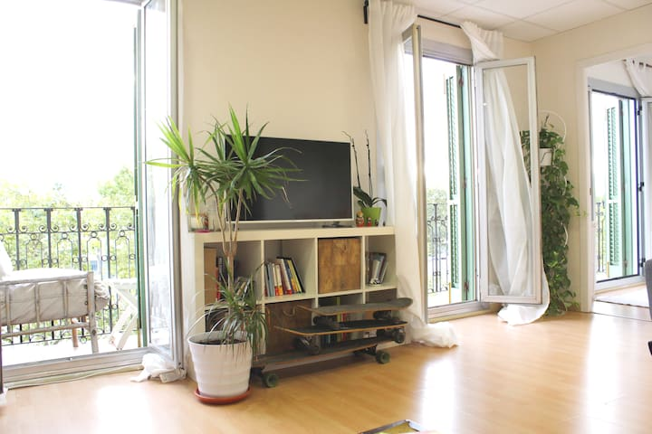 Single room in apartment in front of the port