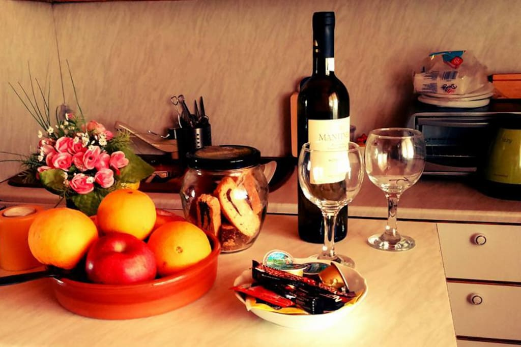 Enjoy our local fruit and wines free of charge