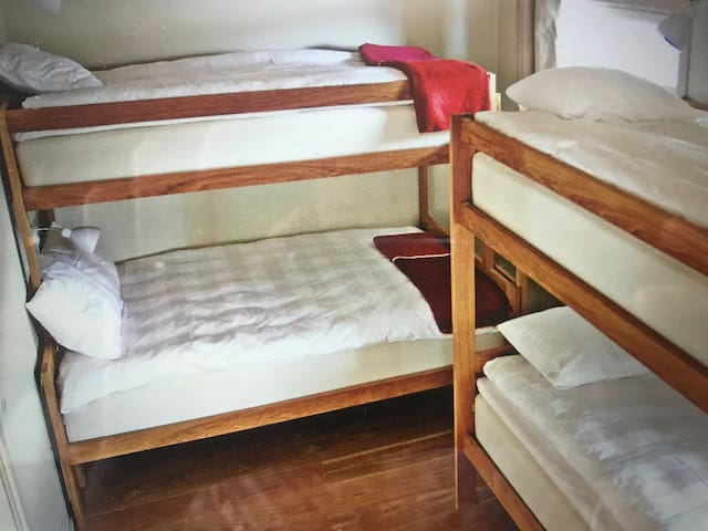 Three normal bed and one wider