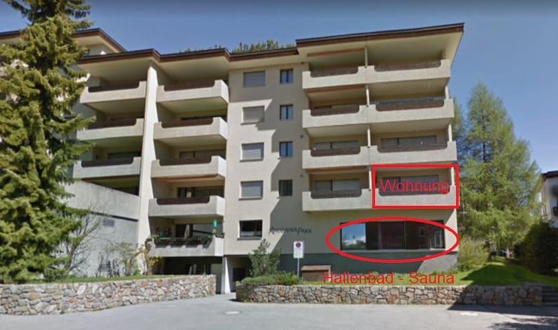 3 Zimmer Wohnung mit Hallenbad, Sauna & Tiefgarage
