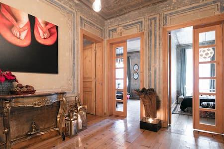 -NEW-19thCENTURY GALATA APT W/PATIO - Istanbul - Lägenhet
