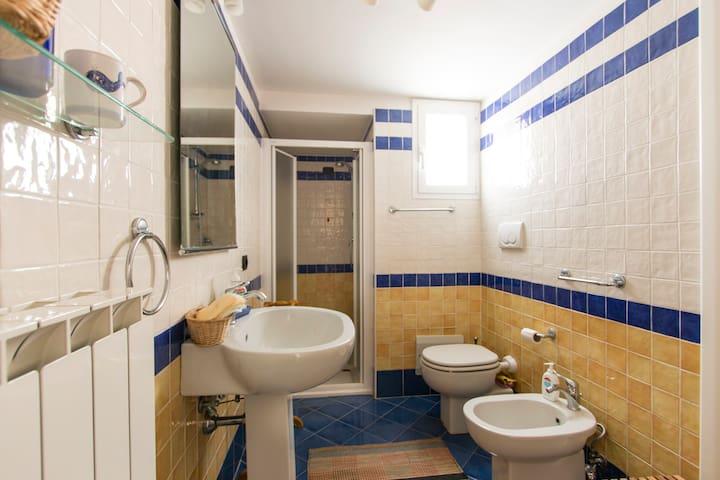 bagno con spaziosa doccia