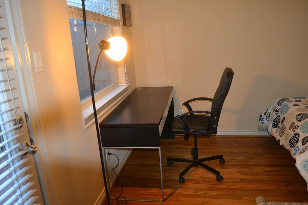 Desk/Chair if you wish to read or work