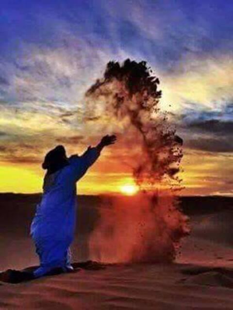 Nuit insolite dans le désert