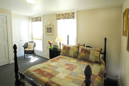 The Evesham is a cute, quiet room at back of the house