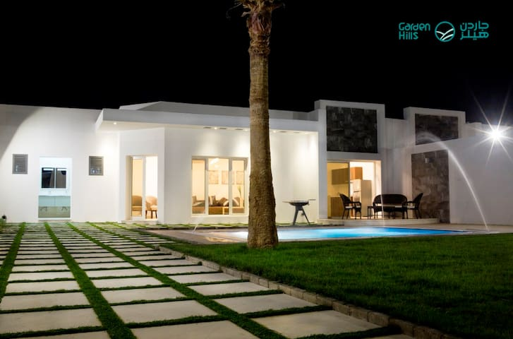 استراحات جاردن هيلز - 375م مع مسبح خاص - Riyadh - Chalet