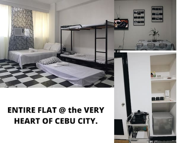 ENTIRE FLAT @ the VERY HEART of Cebu city downtown