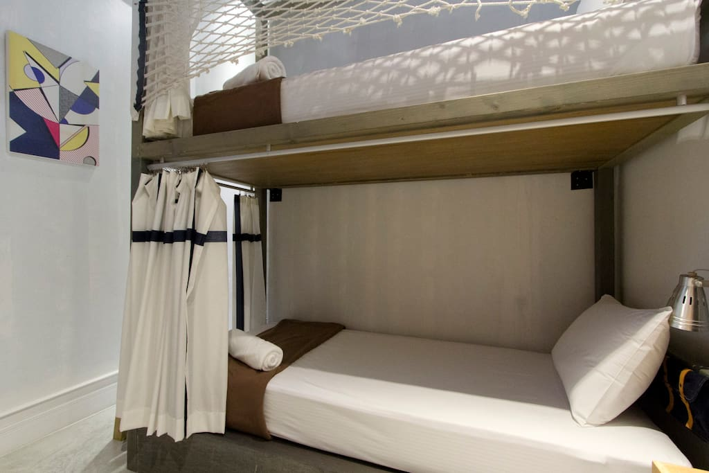 Twin Bunk Private Room Shared Bathroom